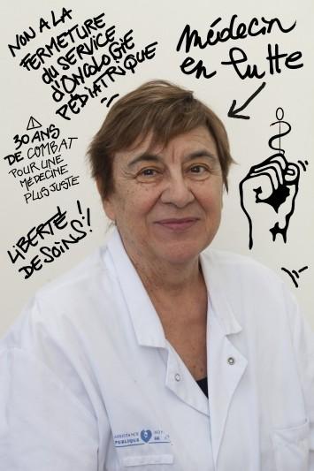 Nicole Delépine, chef de service unité oncologie hopital Garches, Camionette TiStudioMobil, ©natacha soury 05_14