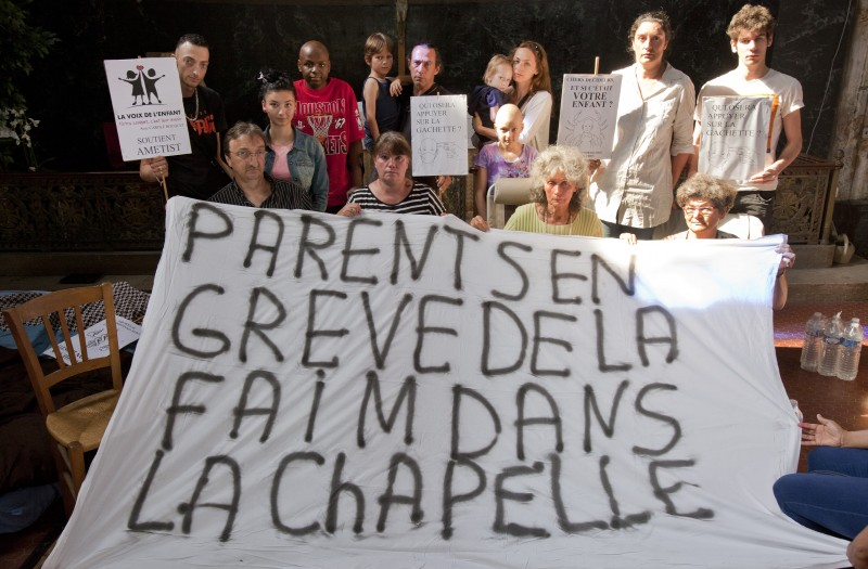 greve de la faim parents enfants oncologie pediatrique, Garches, France. ©Blog parents Garches, Ametist.