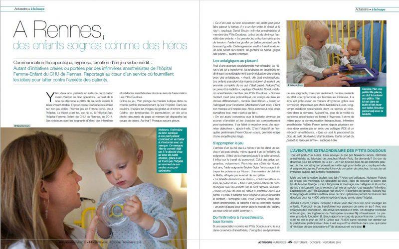 Magazine ACTUSOINS - textes : Amélie Cano ©N.Soury