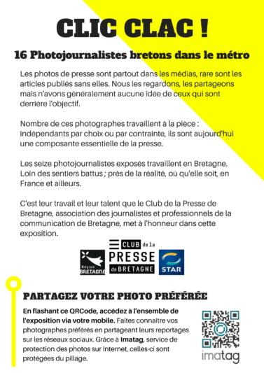 CLIC CLAC Expo participative dans le métro de Rennes